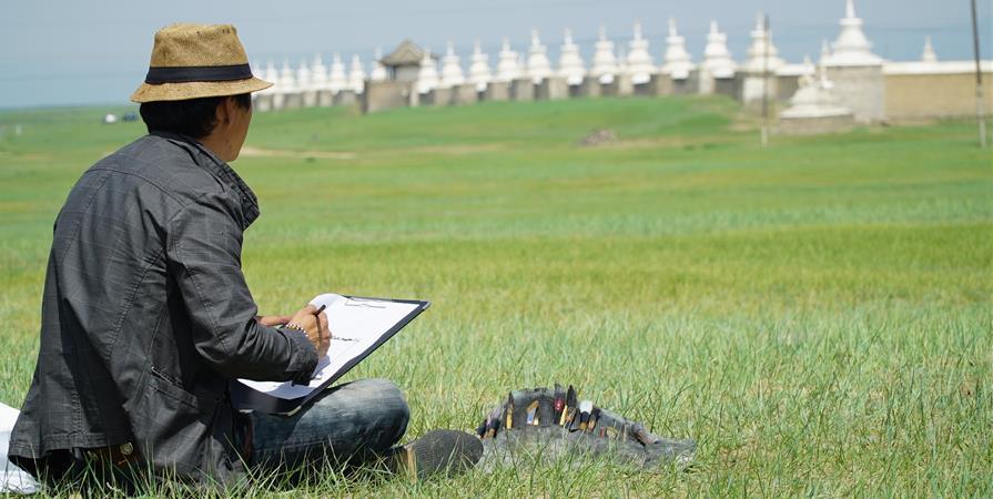 Centre des Arts de la Calligraphie à Karakorum - Mongolie  - Les Champs de l'Homme