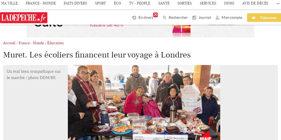 Ecole Elida Hugon de Muret, Let's go to London ! - Association Ecole Elida Hugon, Let's go to London !