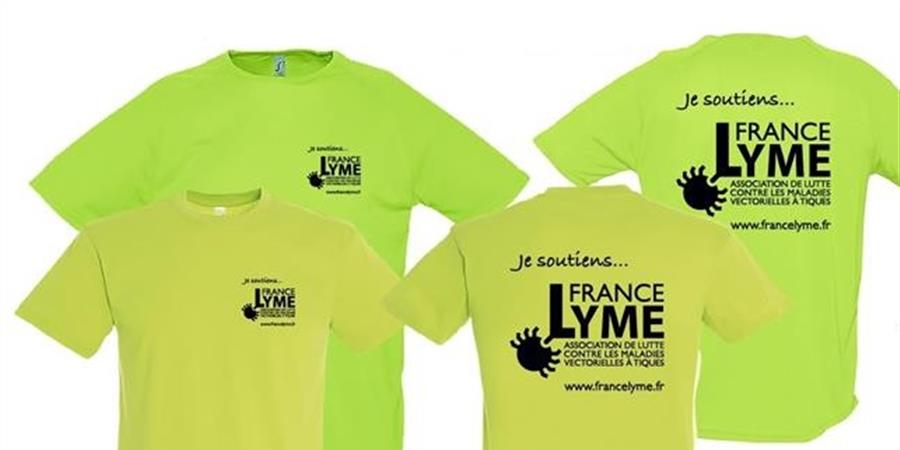 Remboursement t-shirts tissu sport - Association France Lyme