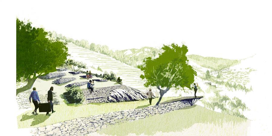 Le théâtre des Lauzes : un théâtre de verdure ouvert à tous - Sur le sentier des lauzes