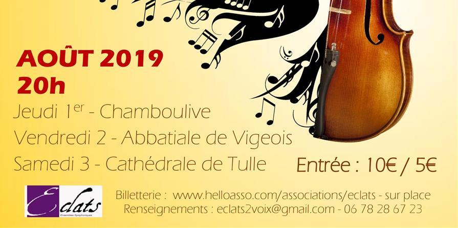 Concert d'Eté 2 août 2019 - Eclats