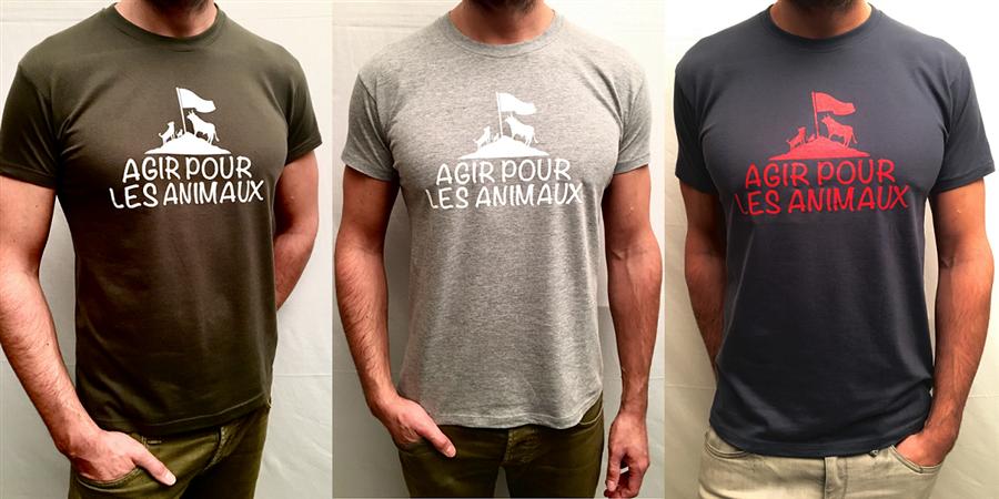 T-shirt Agir Pour Les Animaux - Agir Pour Les Animaux