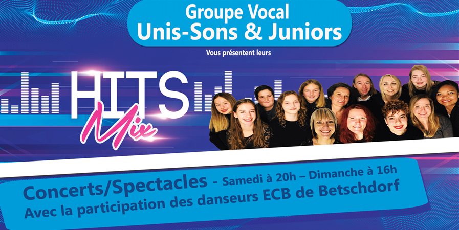 Unis-Sons Hits mix - Concert/Spectacle - Groupe vocal Unis-Sons