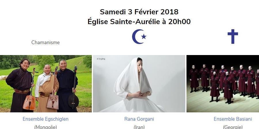 Concert du 3 février 2018 - Eglise Saint Aurélie - 20h - Les Sacrées Journées de Strasbourg