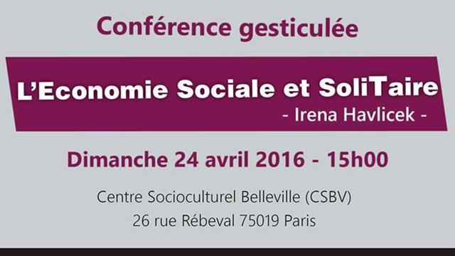 Conférence gesticulée l'Economie Sociale et soliTaire - Ressources Alternatives