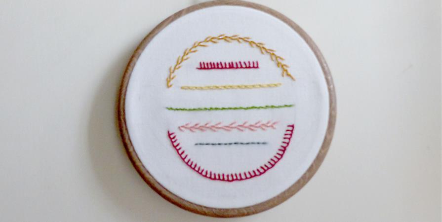 Broderie sur tambour - La Belle Déchette