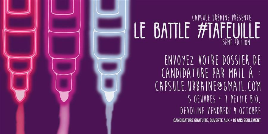 Battle d'illustration #TAFEUILLE - Capsule Urbaine