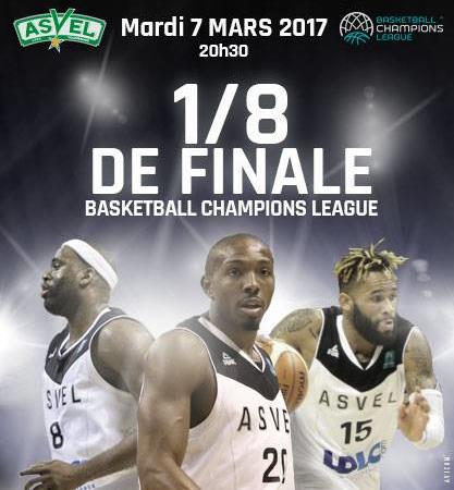 1/8 Finale Basket avec l'ASVEL - International Student Lyon