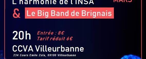 L'harmonie de l'insa invite le Big Band de Brignais - Harmonie INSA Lyon