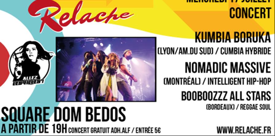 Relache n°10 : Kumbia Boruka / Nomadic Massive / Booboozzz' - Allez Les Filles