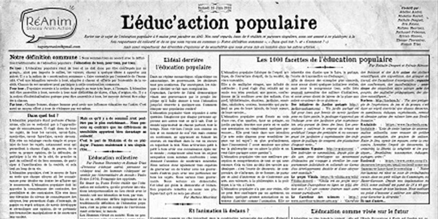Educ'action Populaire: Le poster B2 (50 X 70) - RESEAU ANIM ACTION