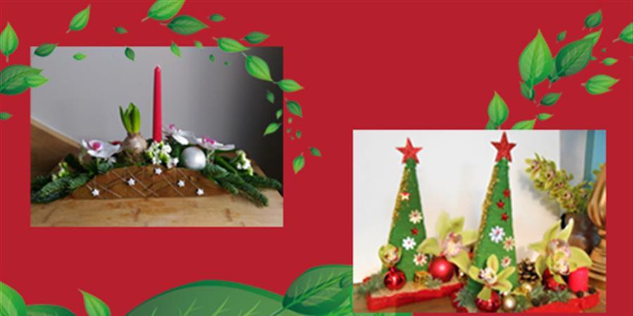 Atelier Art Floral : Noël - Talents au féminin