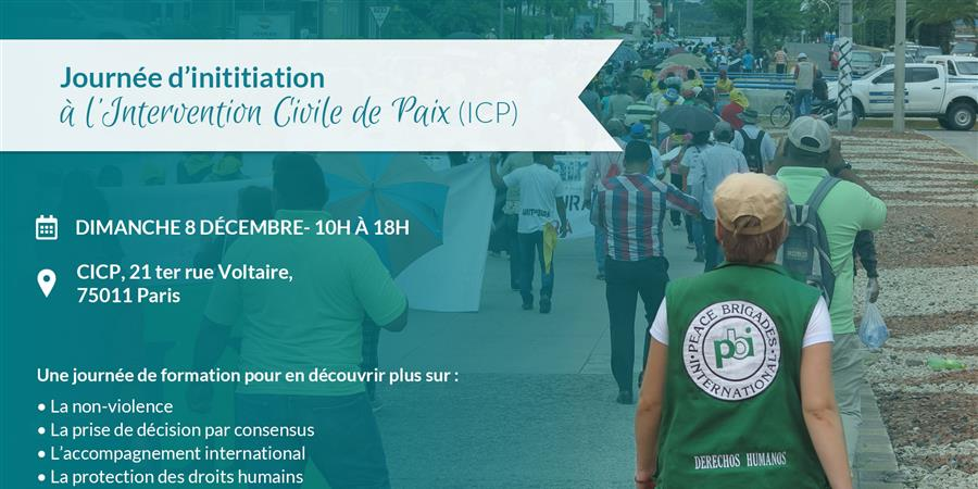 Journée d'initiation à l'intervention civile de paix - PBI