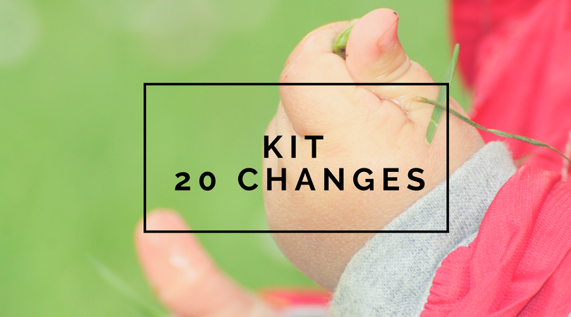 Kit 20 changes lavables - Les alternatives de Lilly