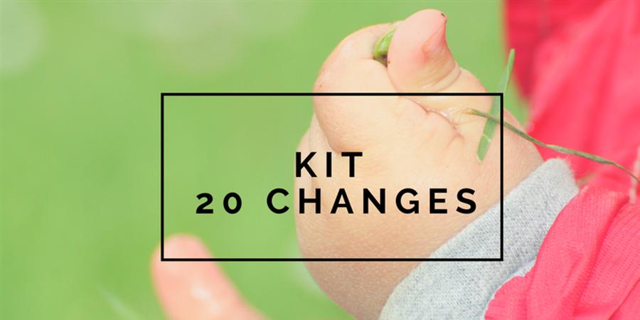 Kit 20 changes lavables - Les alternatives de Lilly