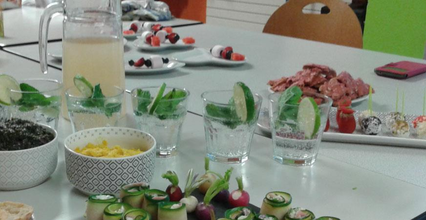 Atelier de cuisine Apéritif dinatoire - Association PAMM