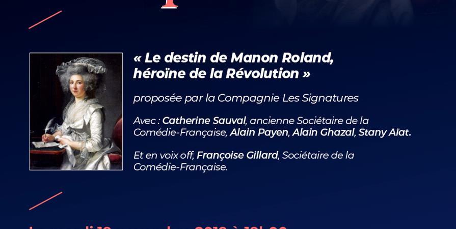Le destin de Manon Roland, héroïne de la Révolution. - Société littéraire de La Poste