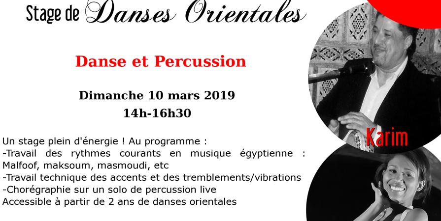 Stage de danse orientale avec percussion live - Al Masriya