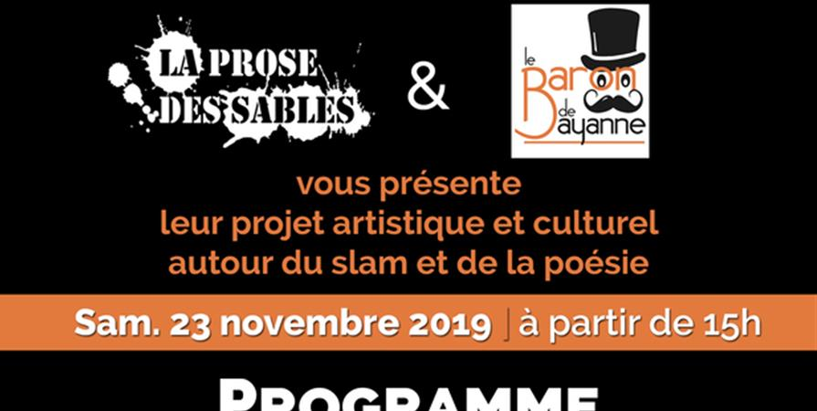 Journée Slam & Poésie + Atelier - Association Cirque Autour