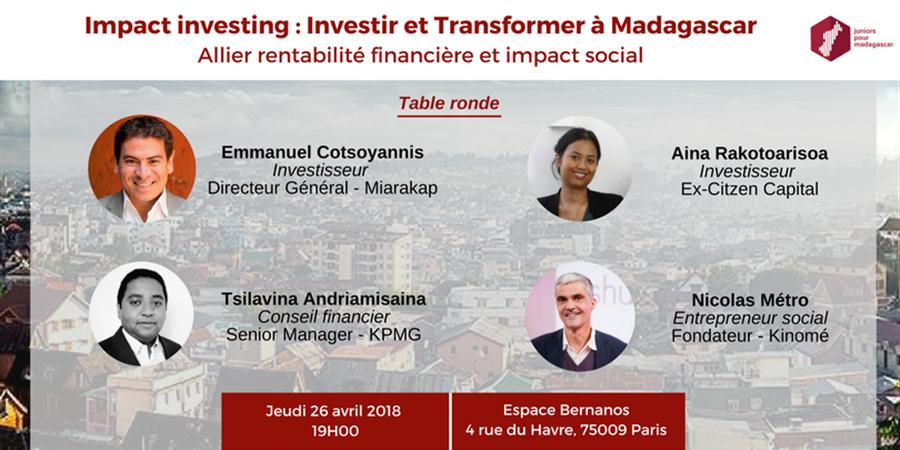 Impact investing : Investir et Transformer à Madagascar - Juniors Pour Madagascar