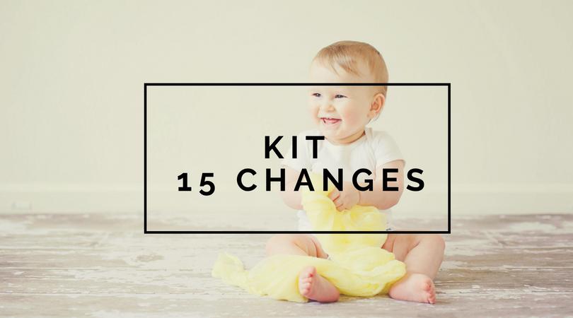 Kit 15 changes lavables - Les alternatives de Lilly