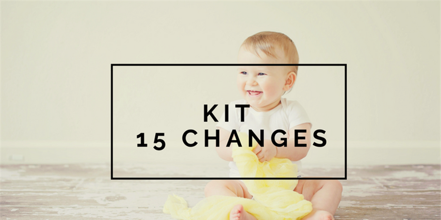 Kit 15 changes lavables - Les alternatives de Lilly