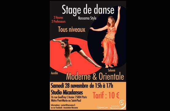 Stage de danse Nassama style (Danse moderne et orientale) - Association Nassama