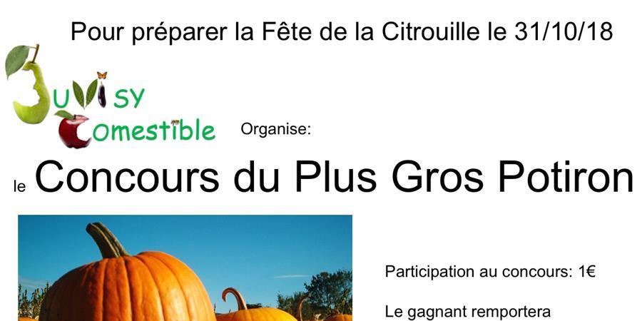 Concours du Plus Gros Potiron - Juvisy Comestible