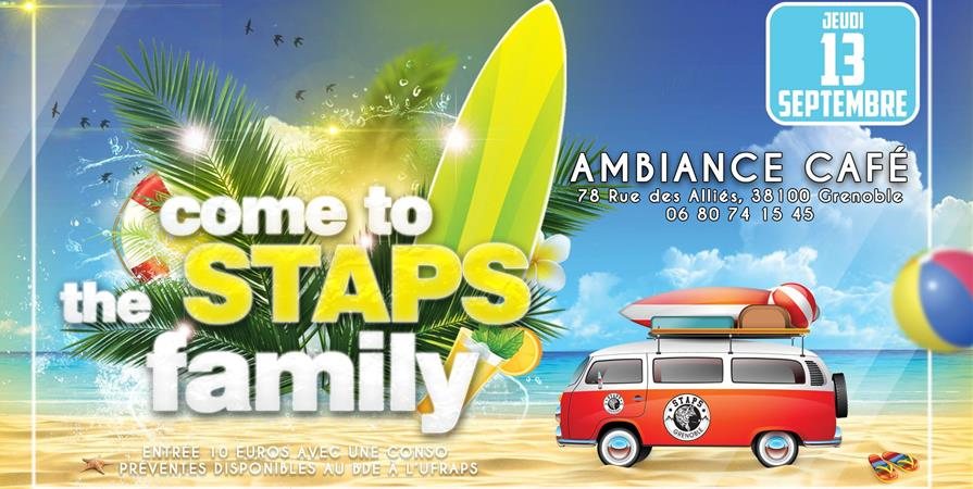 Come to the STAPS Family ! - BDE Staps Grenoble
