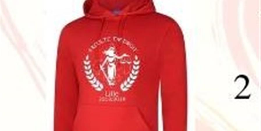 Sweat-shirt ROUGE brodé unisexe 2018-2019 - Corporation des Étudiants en Droit de Lille