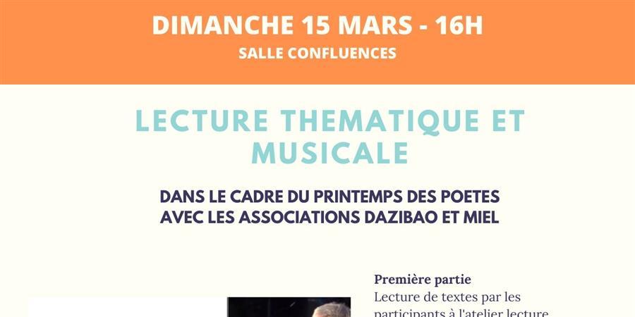 Lecture Thématique et Musicale - Le Quart'Ney