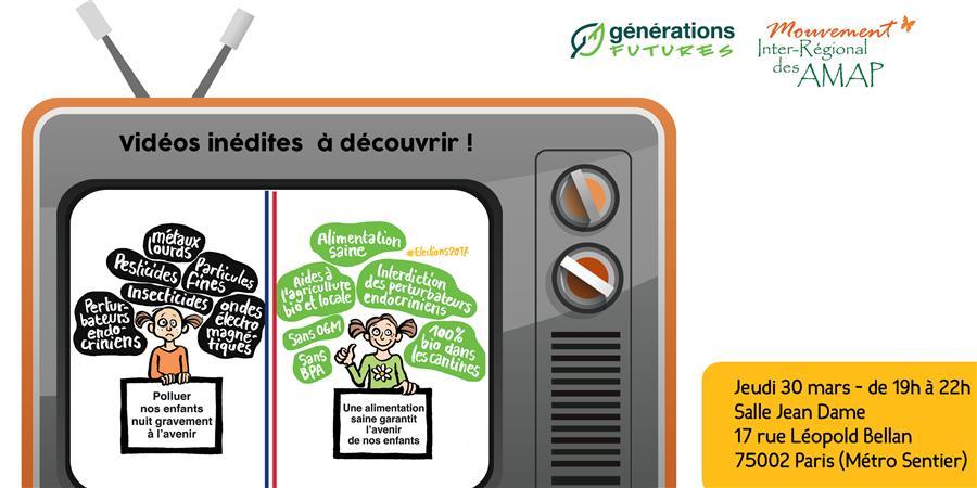 Soirée de clôture de la 12ème Semaine pour les alternatives aux pesticides - Générations Futures