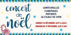 Dimanche 17/12 à 16h - Concert de Noël - Chanterie de Lyon