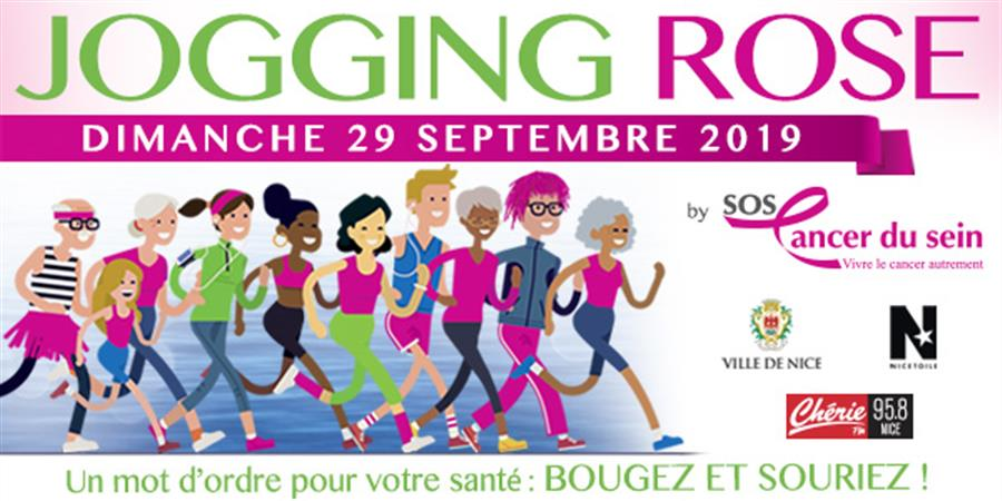 JOGGING ROSE et MARCHE ROSE à NICE le 29 Septembre 2019 - sos cancer du sein