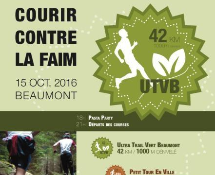 UTVB 2016 - Ultra Trail Vert de Beaumont, courir contre la faim ! -  Délégation Action contre la Faim Puy-de-Dôme