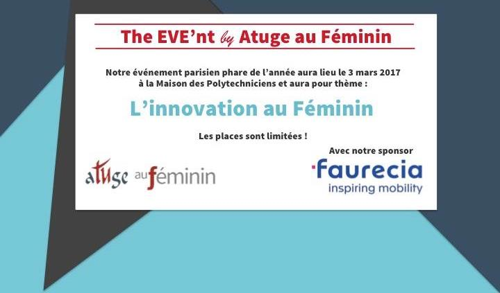 The EVE'nt by ATUGE au Féminin - L'Innovation au Féminin -