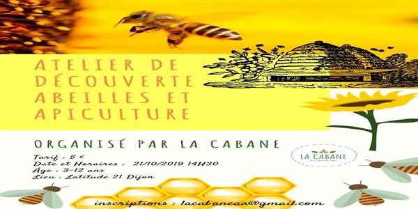 Atelier découverte des Abeilles et de l'apiculture - La Cabane aux apprentis'sages Dijon