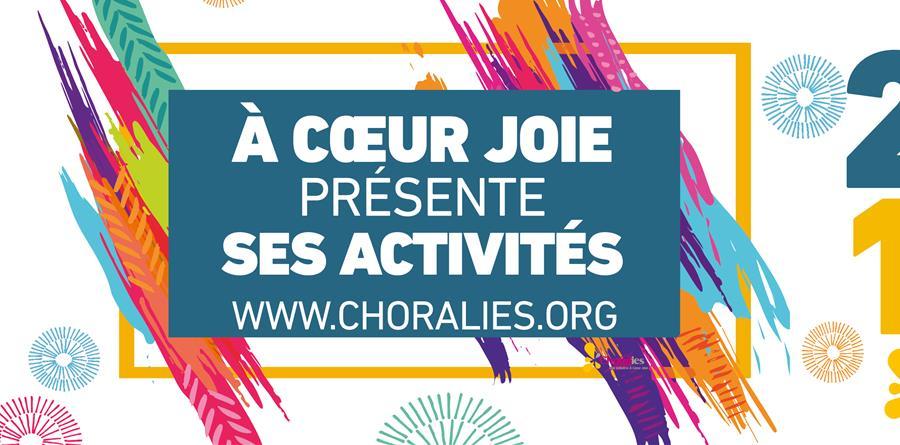 Activités 2018-2019 - À Cœur Joie