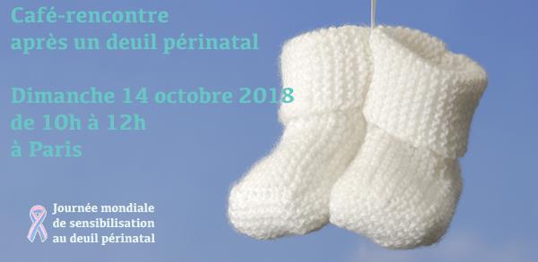 Paris 15 - dimanche 14 octobre 2018 - Café-rencontre après un deuil périnatal - Agapa