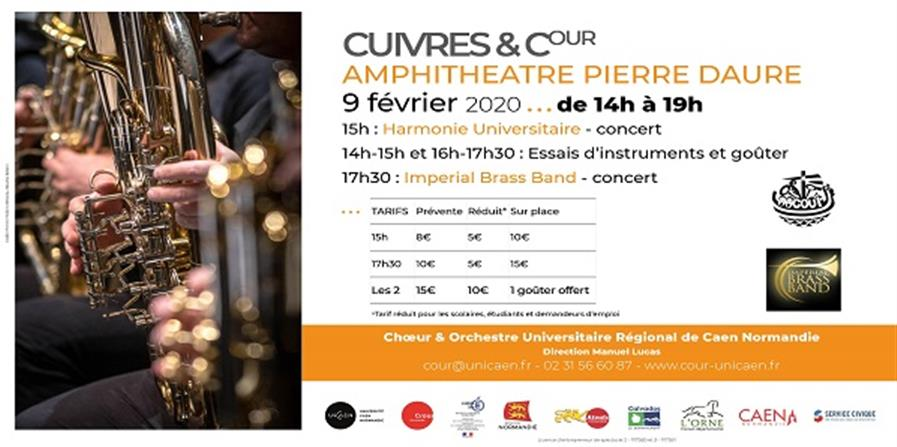 Cuivres & COUR - 17h30 - Choeur & Orchestre Universitaire Régional de Caen Normandie