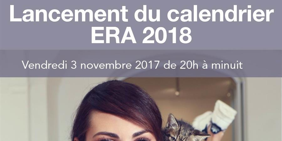 Calendrier ERA 2018 - ERA Ethique & Respect Animal