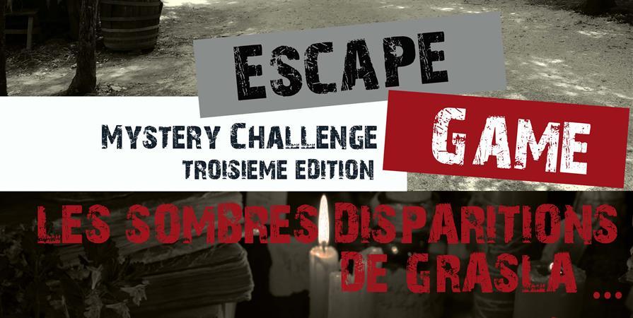 Escape Game - Les sombres disparitions de Grasla - Association Le Refuge de Grasla