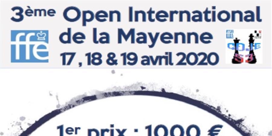 3ème OPEN INTERNATIONAL D'ÉCHECS DE LA MAYENNE - CDJE 53