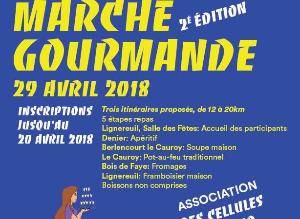 MARCHE GOURMANDE 2018 - des cellules d'espoir pour Clémence