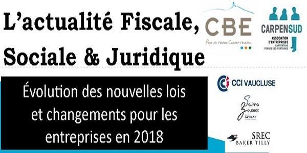 4ème Edition Actualités Fiscales et Sociales  - CBE Pays du Ventoux