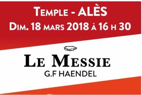 LE MESSIE de G.F. Haendel le dimanche 18 mars 2018 à 16h30 au Temple d'Alès - LE MADRIGAL DE NÎMES