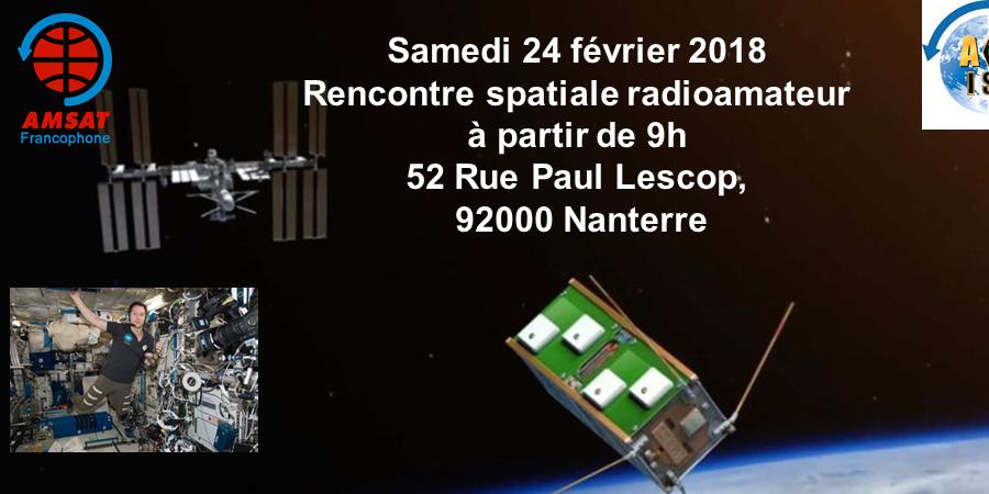 Rencontre spatiale radioamateur - Amsat-Francophone