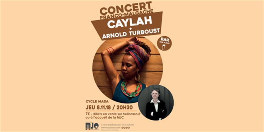 """Concert Caylah & Turboust - HETSIKA """"accueil, arts et culture de Madagascar"""""""