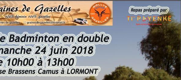 Repas réunionnais et Tournoi Badminton 24 juin 2018 - graines de gazelles