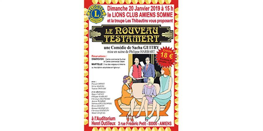 LE NOUVEAU TESTAMENT - LIONS CLUB AMIENS SOMME